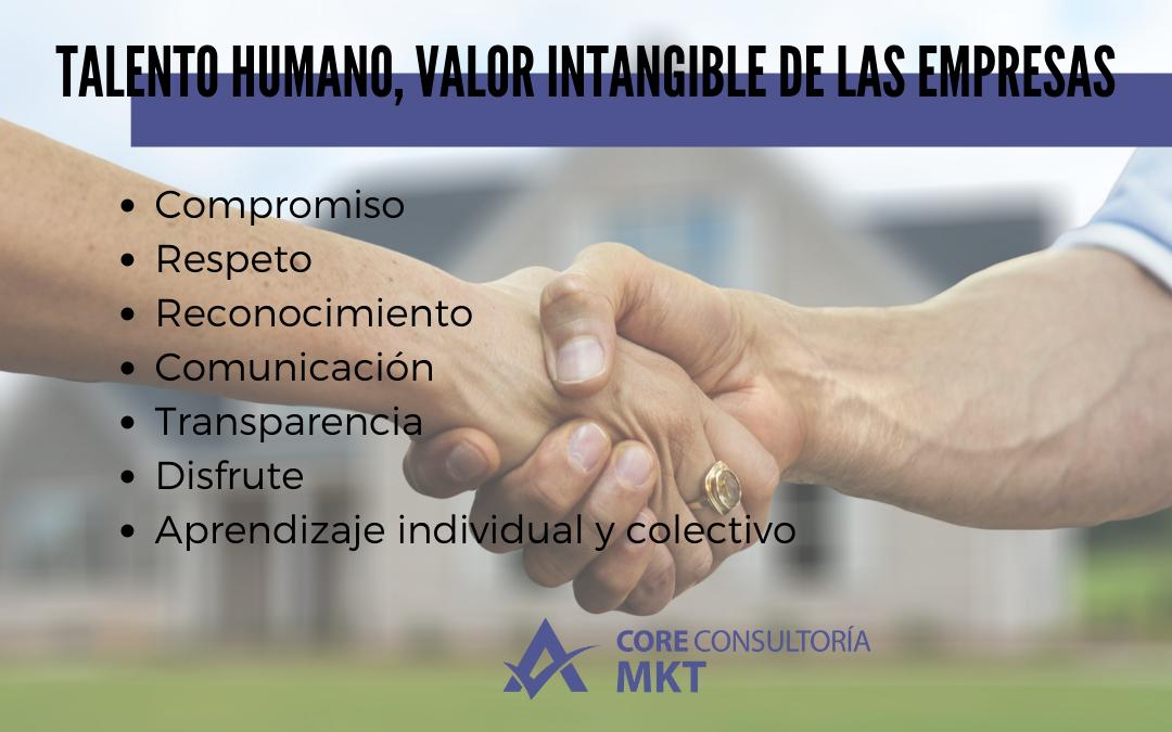 los valores del talento humano